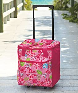 Collapsible Rolling Cooler - Pink Floral