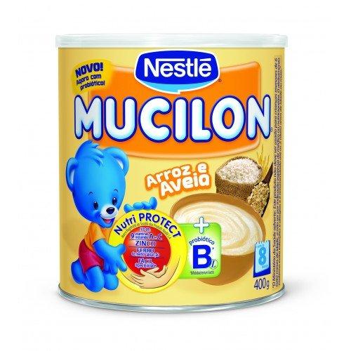 Nestlé Mucilon - (Rice And Oatmeal) Arroz E Aveia + Probiótico B Em Pó | Apartir De 8 Meses