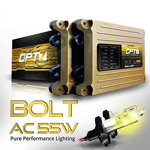 OPT7 Bolt AC 55w HID Kit 5x Brighter - 6x Longer Life - All Colors and Sizes Simple DIY Install - 2 Yr Warranty - Bulbs and Ballasts [H4 9003 Hi-Lo - 3K Fog Yellow Xenon Light] (Oem 2010 Honda Crv Antifog Lights compare prices)