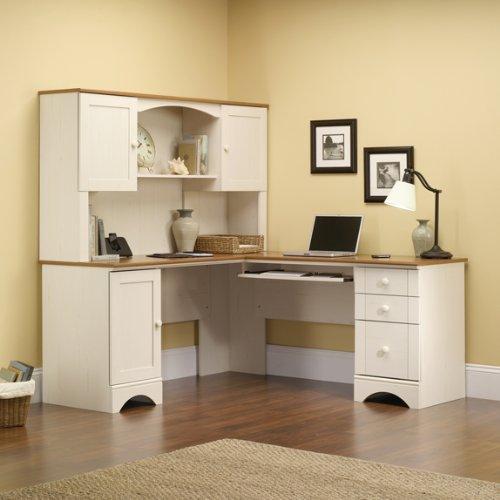 Offer Cheap Antique White Corner Computer Desk