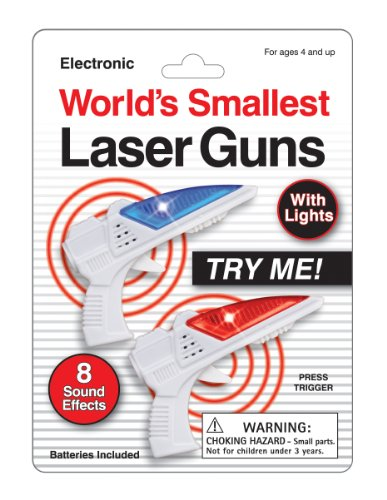 Worlds Smallest Laser Guns - Set of 2 - 1
