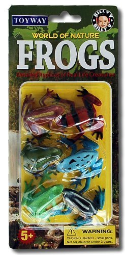 World of Nature Frog Replicas: Set of 6 Realisitic Amphibian Figures