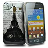 Accessory Master Case for Samsung Galaxy Ace 2 i8160 Eiffel Tower With Words Design
