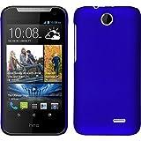 Custodia Rigida per HTC Desire 310 - gommata blu - Cover PhoneNatic + pellicola protettiva