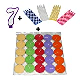 bliss Birthday Combo Pack 7 :: Birthday Number 7 + 16 Spiral Candles + 10 Scented Tealights (Colours may vary)