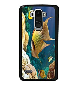 printtech Fish Coral Seawater Back Case Cover for LG G4 Stylus ,Versions: H631 (T-Mobile); MS631 (Metro PCS); H635 (EMEA); H540 (UAE); H630D (India); H542 (Mexico)