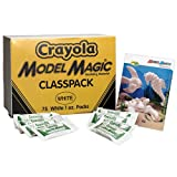 Crayola 23-6001 Model Magic Modeling Compound Class Pack, White, 1-oz. Pouches, 75/Carton