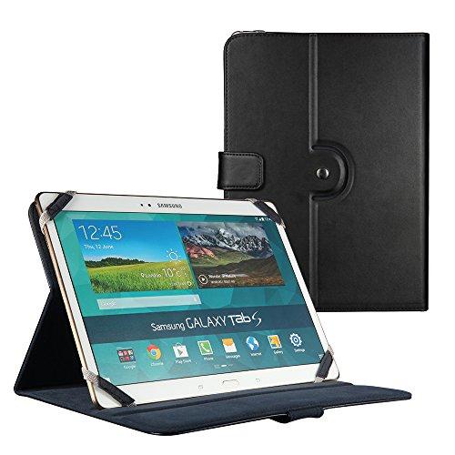 """Easyacc Hülle Universal tasche Kunstleder Hülle Schutzhülle / Ledertasche / lederhülle für Lenovo Idea Tablet MIIX10 10.1, PrestigioMultiPad8.0ProDuo, OdysTitan, SamsungGalaxyNote8.0, SonyXperiaTabletS, Samsung Galaxy Note 10.1, Samsung Galaxy Tab Pro T520, Samsung Galaxy Tab 4 10.1, iPad Air, Passend für alle 10"""" Tablet PC die nicht größer sind als 24.5x17.5x2 cm (Farbe: Schwarz)"""