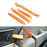 KLTECH Portable 4Pcs Auto Car Radio Door Clip Panel Trim Dash Audio Removal Installer Pry Tool