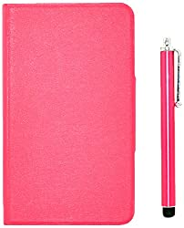 Apexel 7-Inch Tablet Classic Leather Stand Case with Touch Pen for Samsung Galaxy Tab 4, Rose (T230-2-ROSE)