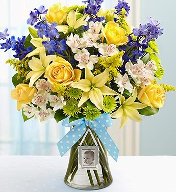 1800Flowers - Sweet Baby Boy Arrangement - Large front-554932