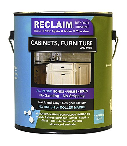 RECLAIM RC13 Buttercream, Cabinet, Furniture & More Paint/Now You Can Reclaim Almost Any Surface with this Combination Primer/Finish/Sealer Formula -No Stripping No Sanding No Priming, 1 gallon (Kitchen Cabinet Paint Cream compare prices)