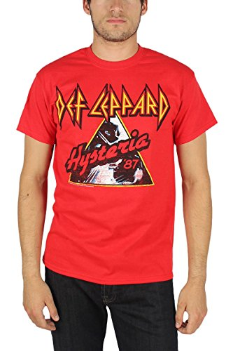 Def Leppard - Mens Hysteria '87 T-Shirt In Red,