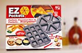 EZ Pockets EZ-1000 Gray Non-Stick Steel 4-Piece Baking Kit with Cutting Tool and Recipe Book