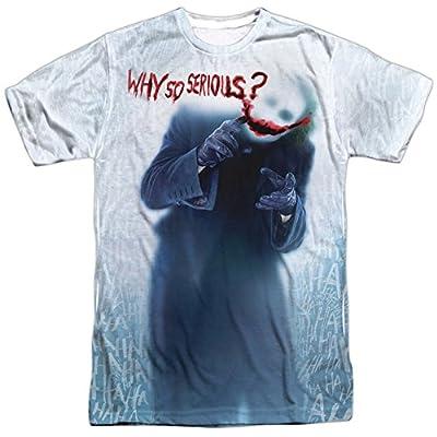 Batman Joker Why So Serious Dark Knight Full Print Adult T-Shirt