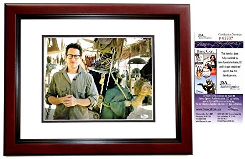J.J. Abrams Signed - Autographed Star Wars: The Force Awakens Episode 7 Director 11x14 Photo MAHOGANY CUSTOM FRAME - JSA Certificate of Authenticity