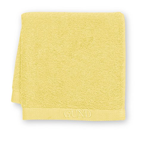 GUND Bear Essential Ringspun Face Towel, Lemon, 12'' By 12'' - 1
