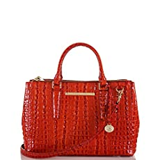 Small Lincoln Satchel<br>Vermillion La Scala