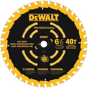 DEWALT DW9196 6-1/2-Inch 40T Precision Framing Saw Blade