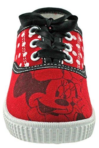 Minnie MausSneaker Halbschuh - Scarpe chiuse Bambina , Rosso (Rot 2), 35