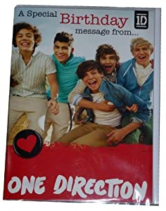 One Direction 'Recorded Sound Message' Birthday Card by One Direction