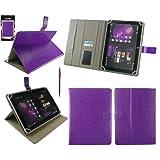 Emartbuy® Púrpura Función Dual Stylus + Universal Púrpura Multiángulo Ejecutivo Folio Case Cover Carcasa Funda...