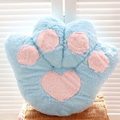 Blue 40Cm Plush Stuffed Toy Bear Paw Ball Of Foot Cushion Pillow Toy Ddstore