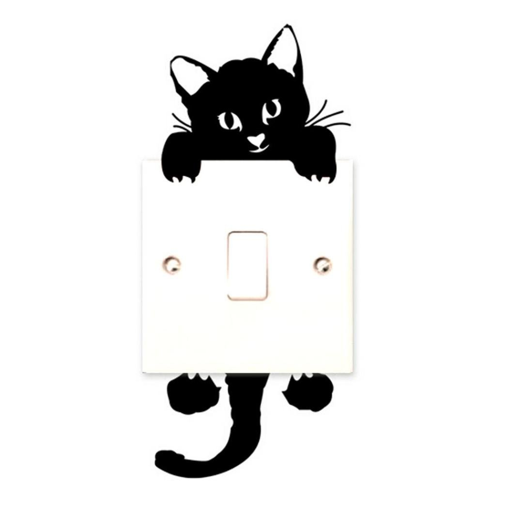 Coromose® Cat Wall Stickers Light Switch Decor Decals Art Mural Baby Nursery Room