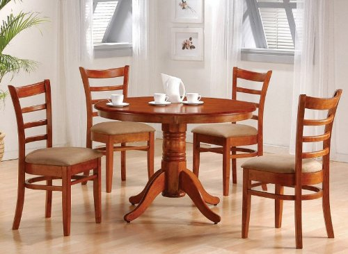 Buy 5pc Dining Room Furniture Set In Antique Oak Finish B000YHPAR2
