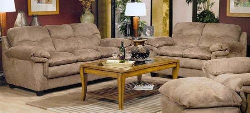 Bryant Microfiber Saddle Sofa And Loveseat
