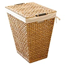 Lamont Home Apricot Hand-Woven Laundry Hamper with Removable Liner Natural