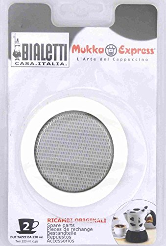 Bialetti Replacement Seal and Filter for 2 Cup Mukka Express Blister Pack