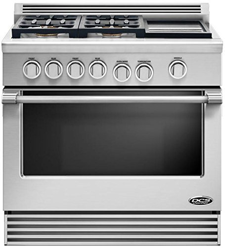 "Dcs Rdv364Gdn 36"" Pro-Style Slide-In Dual Fuel Range - Natural Gas"