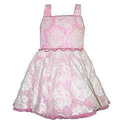 Chokree Pink Color Party Wear Dress/Frock for girl