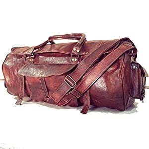 il aurora Unisex Adult's Travel Duffle Holdall Real Leather