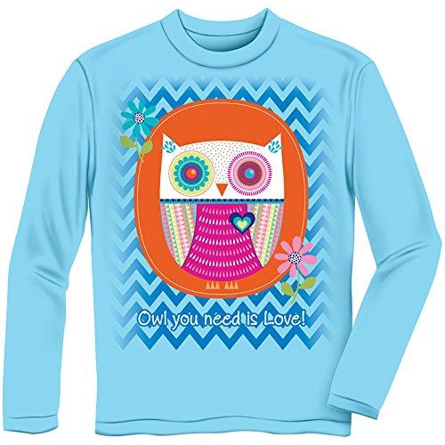 Owl You Need is Love! Longsleeve Youth Tee Shirt (Kids Medium)