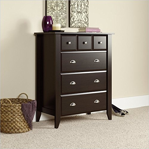Find Cheap Sauder Shoal Creek 4-Drawer Chest, Jamocha Wood Finish
