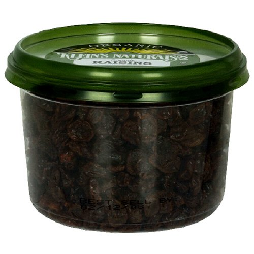 Buy Klein's Naturals Raisins, Organic, 12-Ounce Tubs (Pack of 6)