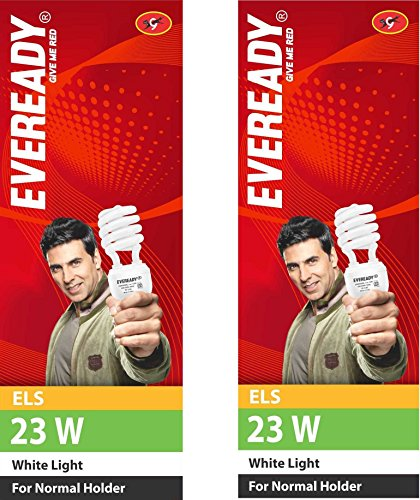 ELS 23 Watt CFL Bulb (White,Pack of 2)