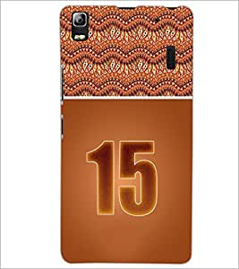 PrintDhaba Numerology Number 15 D-3648 Back Case Cover for LENOVO A7000 (Multi-Coloured)