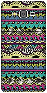 The Racoon Grip AZTEC MULTI-COLORED hard plastic printed back case / cover for Samsung Galaxy Grand Prime