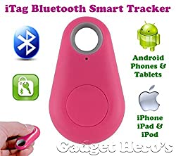 Gadget Hero's iTag Bluetooth Tracer Anti-Lost Alarm Remote Shutter Voice Recorder GPS Tracker Pink. Key Finder Locator Alarm For IOS iPhone Android.