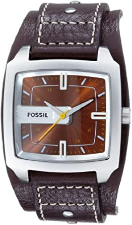 Amazon.com: Fossil Men's JR9990 Brown Leather Watch: Fossil: Watches