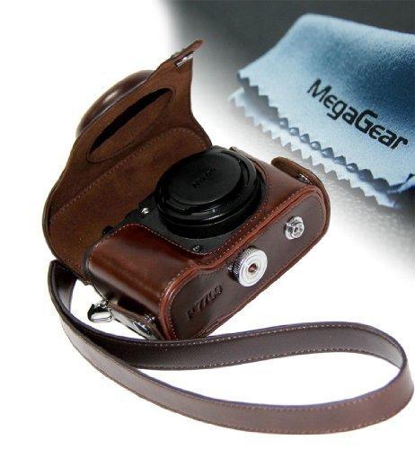 Housses pour appareils photo megagear etui souple en cuir for Housse canon g15