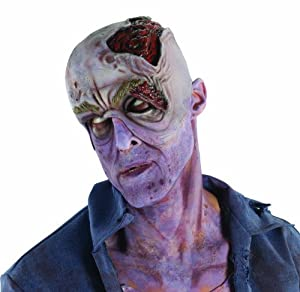 Walking Dead Decayed Head w/ Collapsed Eye Latex Prosthetic from Rubies