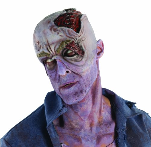 The Walking Dead Decayed Head With Collapsed Eye Latex Mask