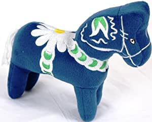 Plush Swedish Dala Horse - Blue