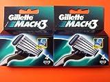 Gillette Mach 3 Razor Blades 4x Mach3