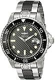 Invicta 20114 Men's Grand Diver Carbon Fiber Black Dial Two Tone Bracelet Automatic Dive Watch