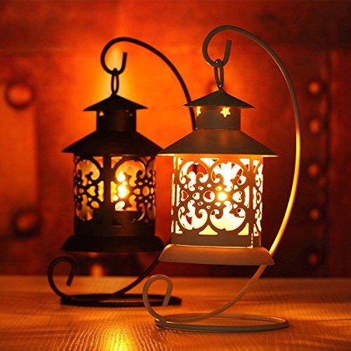 LANTERNA portacandela candeline tea light h21 metallo Laser addobbo matrimonio